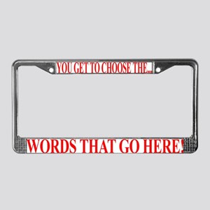 Custom Designed Products License Plate Frame