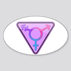 Transgender Symbol Oval Sticker