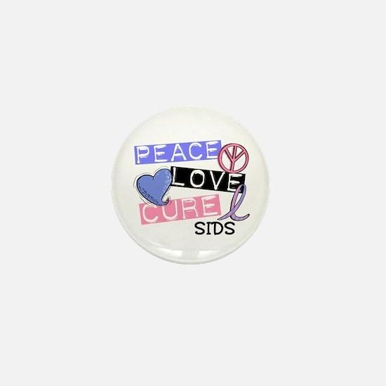 PEACE LOVE CURE SIDS Mini Button