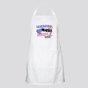 PEACE LOVE CURE SIDS BBQ Apron