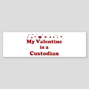 Valentine: Custodian Bumper Sticker