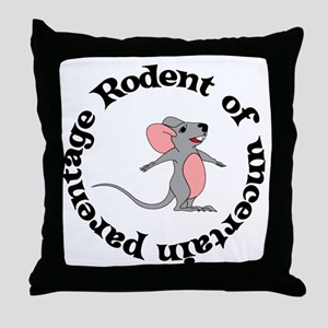 Rat Bastard Throw Pillow