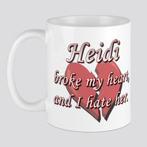 Heidi broke my heart and I hate her Mug