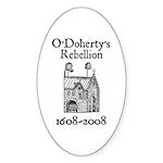 O'Doherty 1608-2008 Oval Sticker (50 pk)