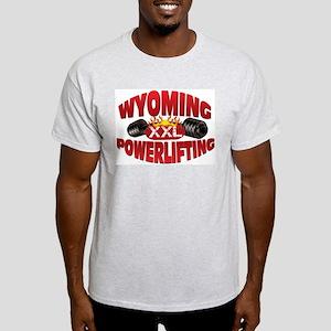 WYOMING Powerlifting! Ash Grey T-Shirt