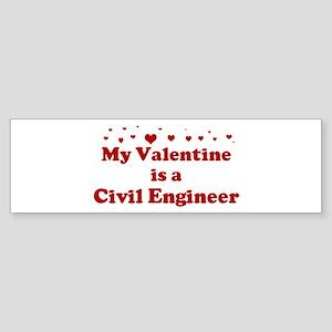 Valentine: Civil Engineer Bumper Sticker