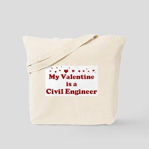 Valentine: Civil Engineer Tote Bag
