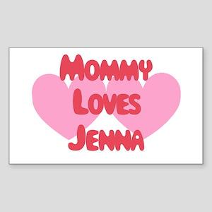 Mommy Loves Jenna Rectangle Sticker