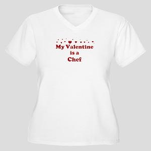 Valentine: Chef Women's Plus Size V-Neck T-Shirt