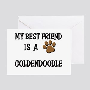 My best friend is a GOLDENDOODLE Greeting Card
