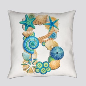 BEACH THEME INITIAL B Everyday Pillow