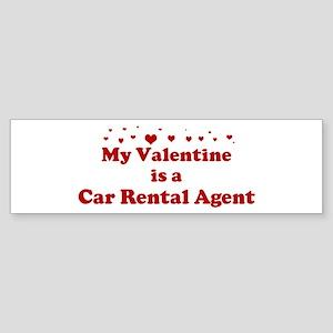Valentine: Car Rental Agent Bumper Sticker