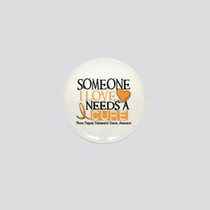 Needs A Cure ENDOMETRIAL CANCER Mini Button
