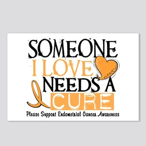 Needs A Cure ENDOMETRIAL CANCER Postcards (Package