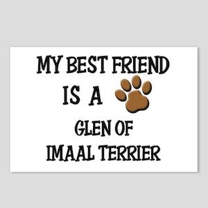 My best friend is a GLEN OF IMAAL TERRIER Postcard