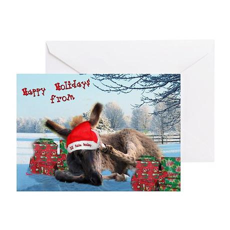 Lil Santa Donkey Greeting Cards (Pk of 10)