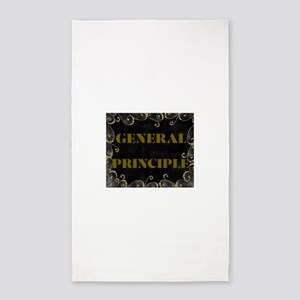 GENERAL PRINCIPLE(GOLD AN BLACK FRAMING) Area Rug