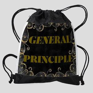GENERAL PRINCIPLE(GOLD AN BLACK FRAMING) Drawstrin