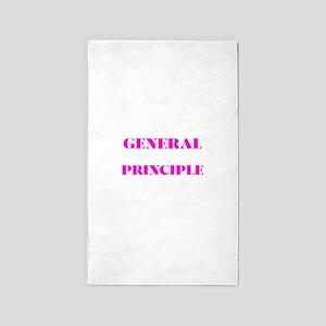 GENERAL PRINCIPLE(PINK PRINT) Area Rug