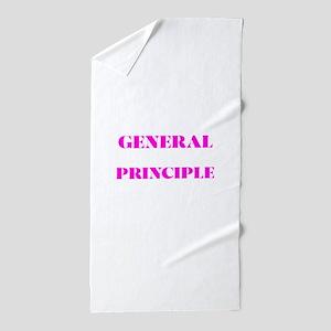 GENERAL PRINCIPLE(PINK PRINT) Beach Towel