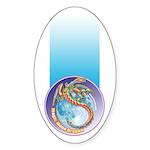 Magic Moon Dragon Sticker (Oval 10 pk)