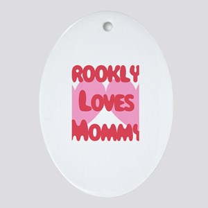 Brooklyn Loves Mommy Oval Ornament