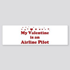 Valentine: Airline Pilot Bumper Sticker
