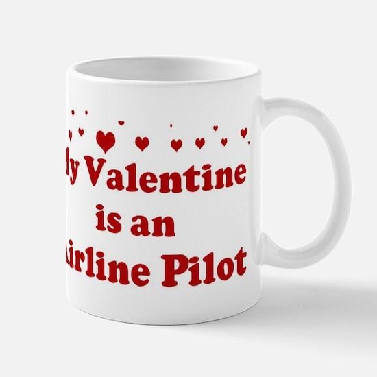 valentine airline pilot mug