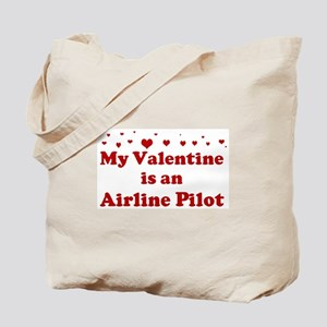 Valentine: Airline Pilot Tote Bag
