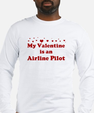 Valentine: Airline Pilot Long Sleeve T-Shirt