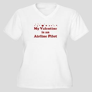 Valentine: Airline Pilot Women's Plus Size V-Neck