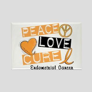 PEACE LOVE CURE Endometrial Cancer Rectangle Magne
