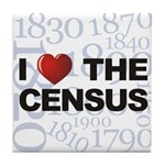 I Love The Census Tile Coaster