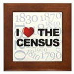 I Love The Census Framed Tile