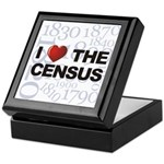 I Love The Census Keepsake Box