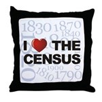 I Love The Census Throw Pillow