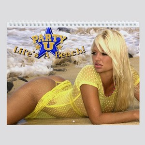 "Party U ""Lifes A Beach"" PinUp Wall Calendar!"