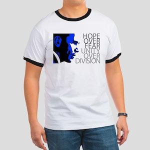 Obama - Hope Over Division - Blue Ringer T