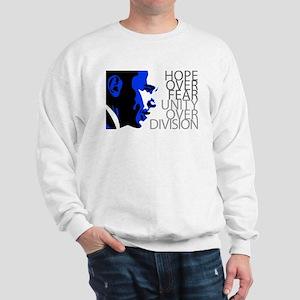 Obama - Hope Over Division - Blue Sweatshirt