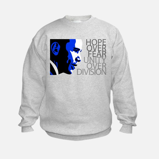 Obama - Hope Over Division - Blue Sweatshirt