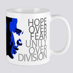 Obama - Hope Over Division - Blue Mug