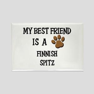 My best friend is a FINNISH SPITZ Rectangle Magnet