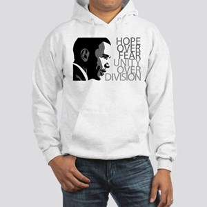 Obama - Hope Over Division - Grey Hooded Sweatshir