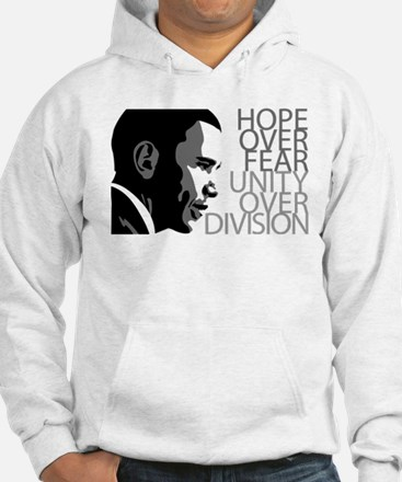 Obama - Hope Over Division - Grey Hoodie