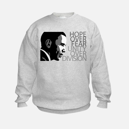 Obama - Hope Over Division - Grey Sweatshirt