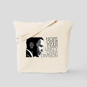 Obama - Hope Over Division - Grey Tote Bag