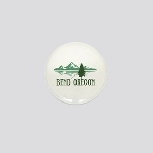 Bend Mountains & Tree Mini Button