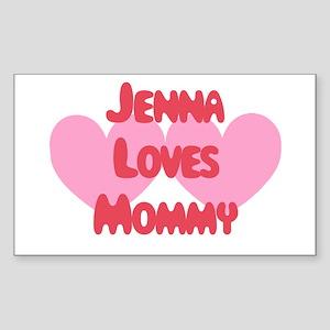 Jenna Loves Mommy Rectangle Sticker