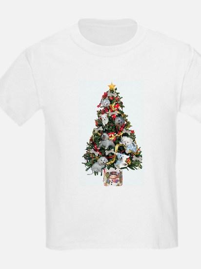 Merry Maltese Christmas Shop Kids T-Shirt