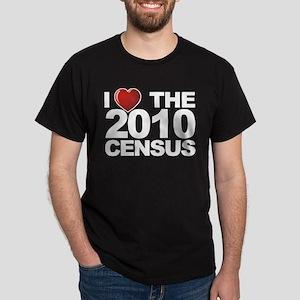 I Love The 2010 Census Dark T-Shirt